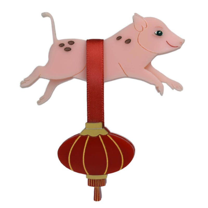 """Chinese New Year 2019. """"Arthur"""" the Pink Pig and Lantern"""