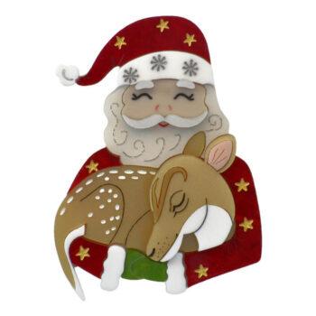 Santa and Baby Fawn
