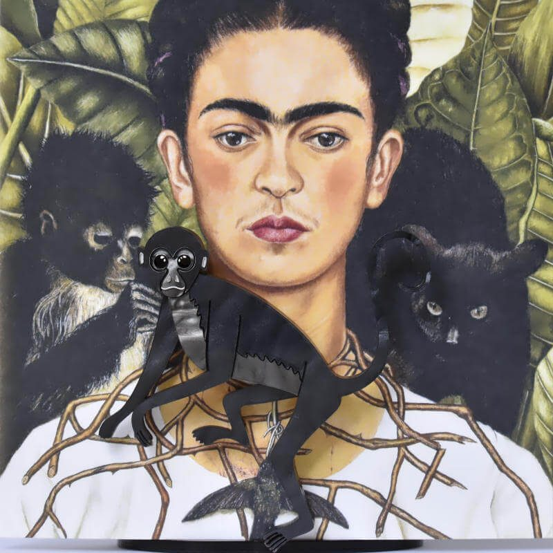 Fulang Chan the spider monkey. Beloved pet of Frida Kahlo.