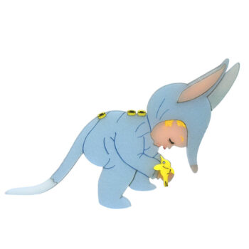 Bilby Boy acrylic brooch: Designed and hand painted by Quetzy for our Easter Collection