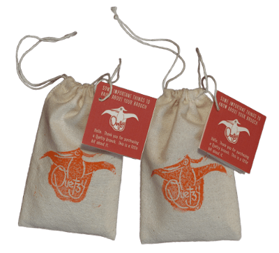Quetzy's handmade & printed custom protective bags