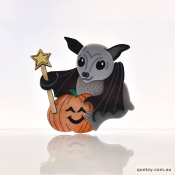 Australian Halloween Flying Fox Acrylic Brooch