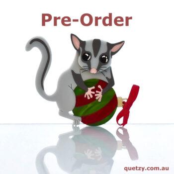 Lottie the Leadbeater's Possum acrylic brooch Version 2 for Christmas 2019