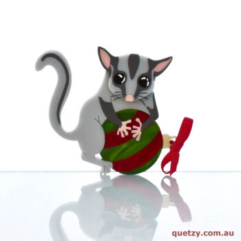 Lottie the Leadbeater's Possum acrylic brooch Version 2 for Christmas 2019