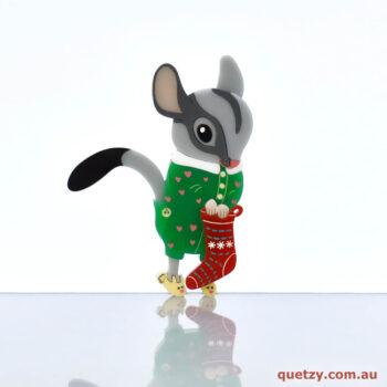 Christmas 2019. Australian Sugar Glider Acrylic Brooch