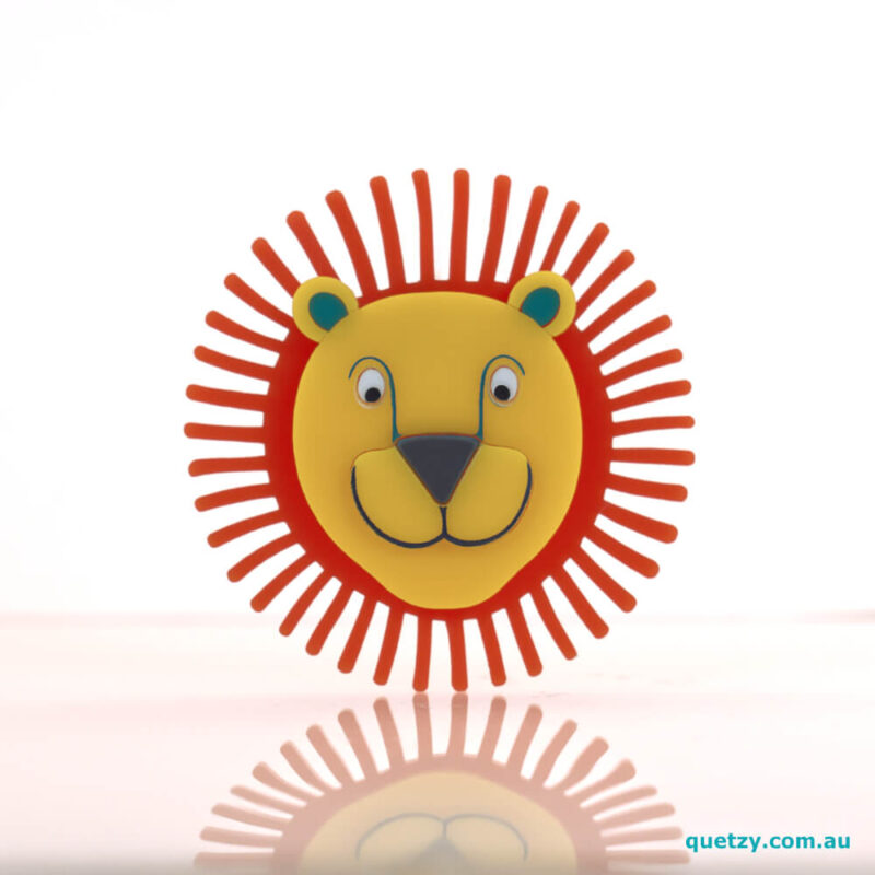 Leon, mid-century inspired acrylic brooch. Designed, laser cut and handmade by Quetzy.